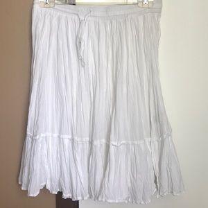 Women white skirt